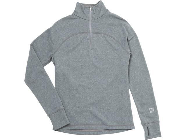 66° North Grimur Powerwool Zip Neck Midlayer Herren heather grey